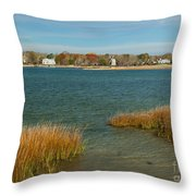Autumn On The Bass River I Throw Pillow