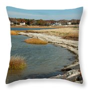 Autumn On The Bass River II Throw Pillow