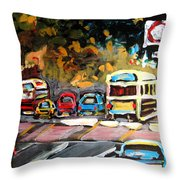 Autumn On The Boulevard Throw Pillow