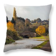 Autumn On The Canal Throw Pillow
