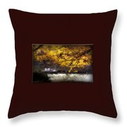 Autumn On The Cove Throw Pillow
