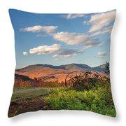 Autumn On The Farm Panorama Throw Pillow