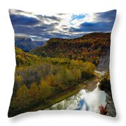 Autumn On The Genesee Throw Pillow