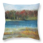Autumn On The Maurice River Throw Pillow