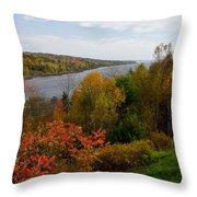 Autumn On The Penobscot Throw Pillow