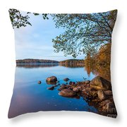 Autumn On The Rocks Throw Pillow