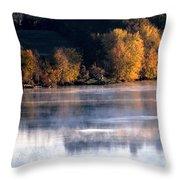Autumn On Wisconsin River Throw Pillow