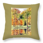 Autumn Oranges Throw Pillow