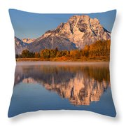 Autumn Oxbow Bend Reflections Throw Pillow