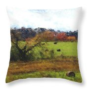 Autumn Pasture Throw Pillow