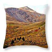 Autumn Peaks In The Rockies Throw Pillow