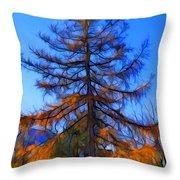 Autumn Pine Tree Throw Pillow
