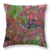 Autumn Pink Poster Throw Pillow