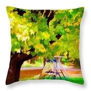 Autumn Playground Throw Pillow
