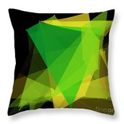 Autumn Polygon Pattern Throw Pillow