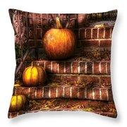 Autumn - Pumpkin - Three Pumpkins Throw Pillow