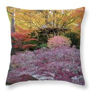 Autumn Purple Throw Pillow