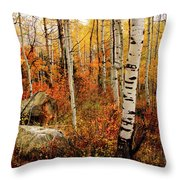 Autumn Quakies Throw Pillow