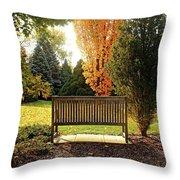 Autumn Quiet Throw Pillow