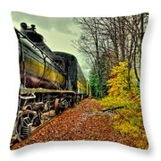 Autumn Railway Throw Pillow