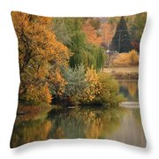 Autumn Reflection 41 Throw Pillow