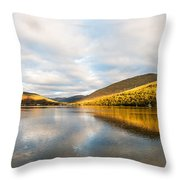 Autumn Reflection At Arrochar Throw Pillow