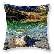 Autumn Reflection Of Pyramid Mountain Throw Pillow