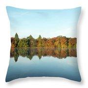 Autumn Reflections At Belmont Lake Throw Pillow