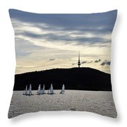 Autumn Regatta Throw Pillow