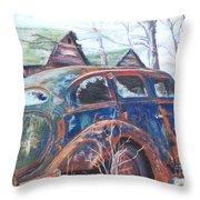 Autumn Retreat - Old Friend Vi Throw Pillow