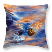 Autumn River Ripple Pastel Colors Throw Pillow