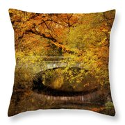 Autumn River Views Throw Pillow
