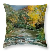 Autumn Rush Throw Pillow