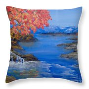 Autumn Throw Pillow by Saundra Johnson