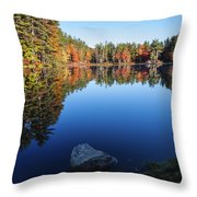 Autumn Serenity In Maine Usa Throw Pillow