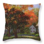 Autumn Shadow And Light Throw Pillow
