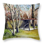 Autumn Shed Throw Pillow