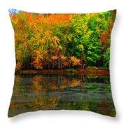 Autumn Sings Throw Pillow