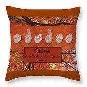 Autumn Spanish Throw Pillow