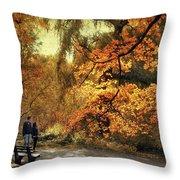 Autumn Splendor Promenade Throw Pillow
