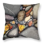 Autumn Stones Throw Pillow by JQ Licensing