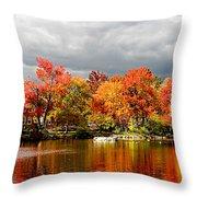 Autumn Storm Coming Throw Pillow