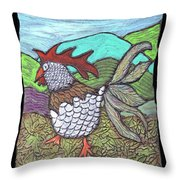 Autumn Strut Throw Pillow