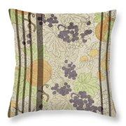 Autumn Sunflower Digital Illustration Throw Pillow