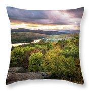 Autumn Sunset In The Catskills Throw Pillow
