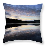 Autumn Sunset, Ladybower Reservoir Derwent Valley Derbyshire Throw Pillow