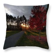 Autumn Sunset, Shawnigan Lake Throw Pillow