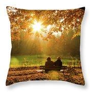 Autumn Sunshine In The Lichtentaler Allee. Baden-baden. Germany. Throw Pillow