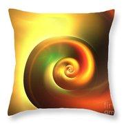 Autumn Swirl Throw Pillow