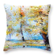 Autumn Tenderness Throw Pillow
